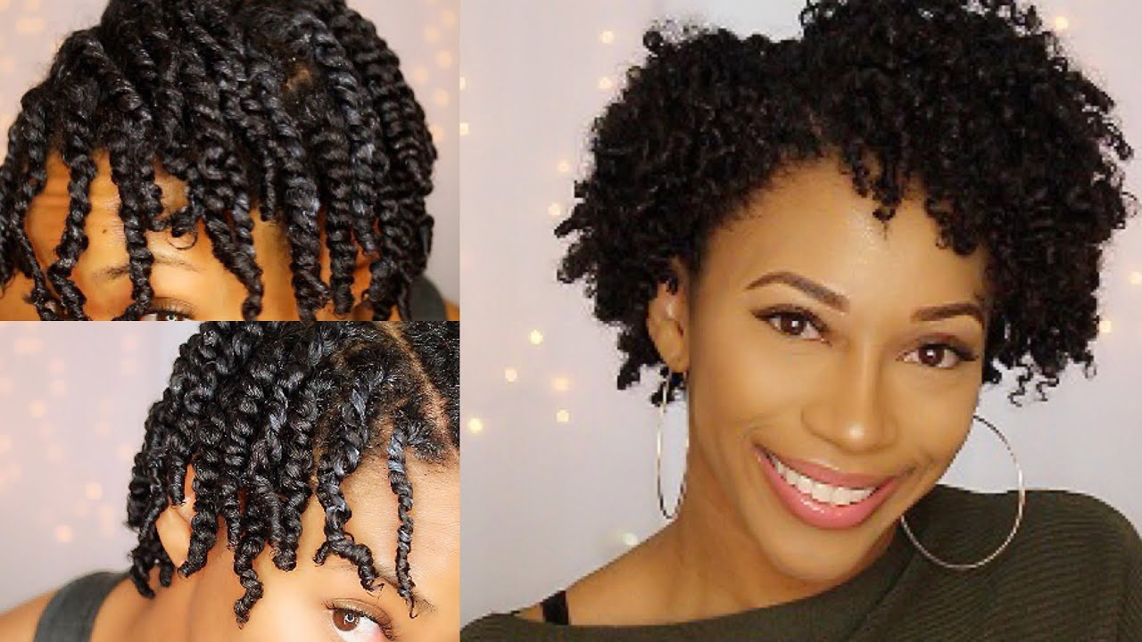 two strand twist out | short natural hair | twa