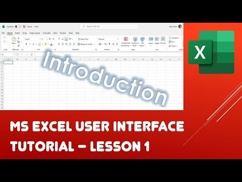 Getting Started and User Interface | Microsoft Excel 2016 Tutorial