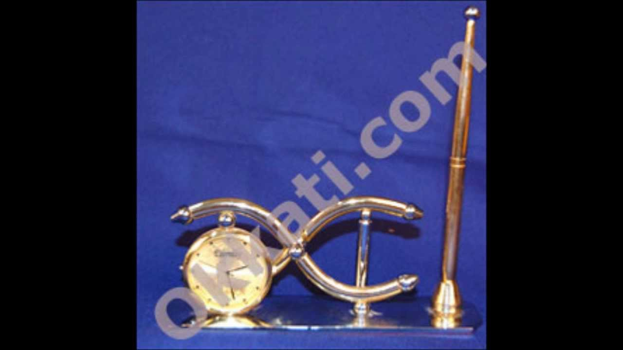 Colock With Pen Gift Articles Birthday Wedding Gifts To India Youtube