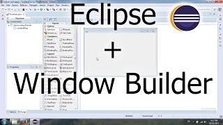 Install Window Builder plugin for Eclipse Oxygen to create Java Swing