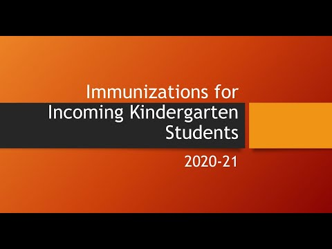 Preview image for Immunizations for Incoming Kindergarten Students