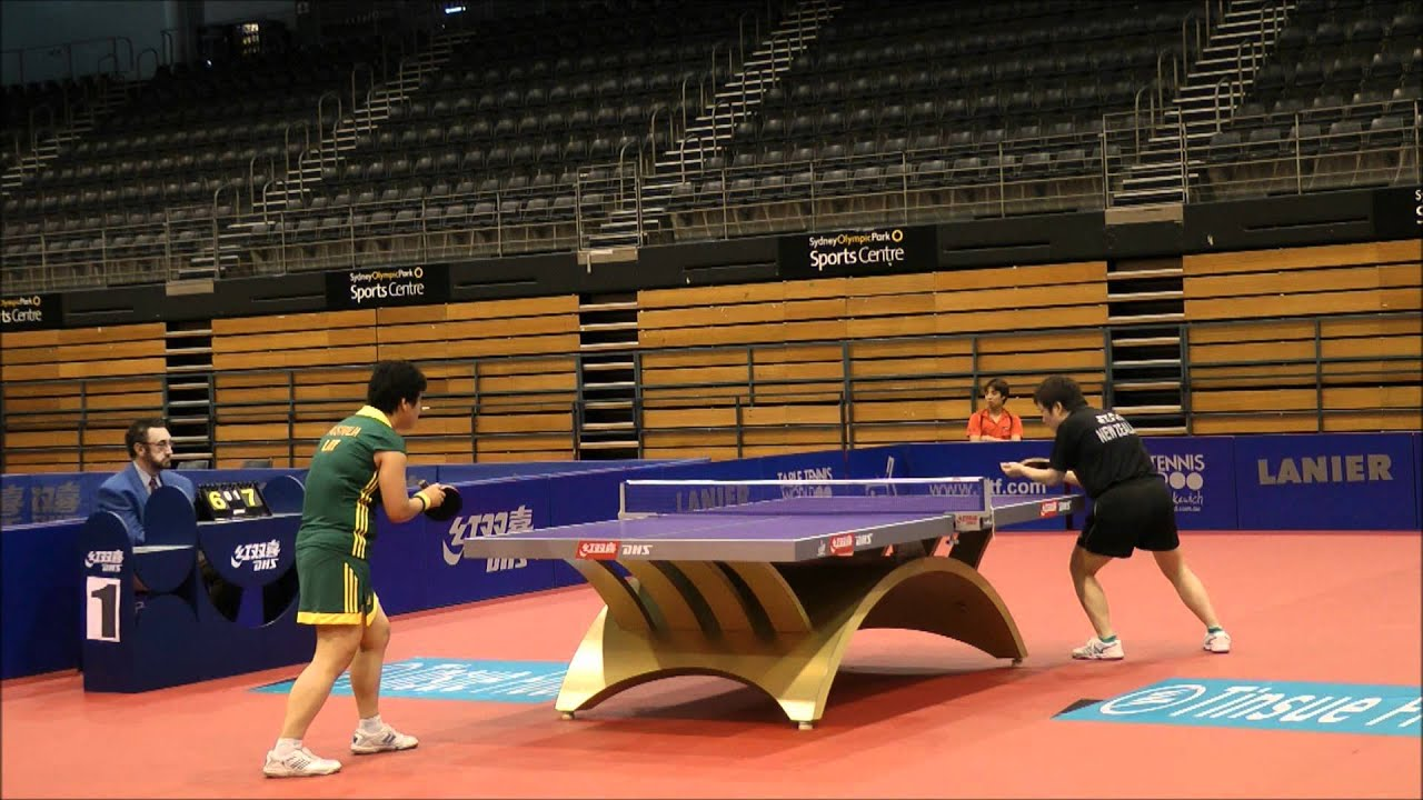 Oceania Table Tennis Olympic Qualification 2012 Li Chunli V Jian Fang Lay Stage 1 Final Partial