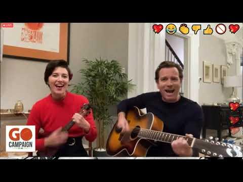 Go Global Gala 2020, Ewan McGregor and Mary Elizabeth Winstead sing Tender