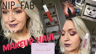 MAKEUP SHOPPING HAUL MAYBELLINE NIP + FAB