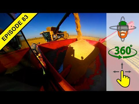 """California's Unique Tractor: The """"Bankout"""" aka Auger Wagon in Virtual 360º Action!"""