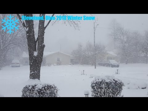 Cleveland, Ohio 2018 Winter Snow