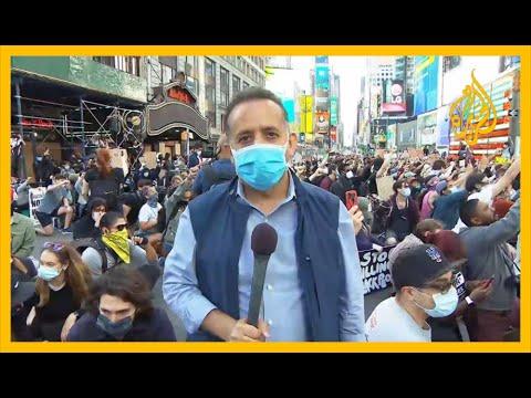 ???? استمرار المظاهرات في مدينة نيويورك الأميركية على خلفية مقتل فلويد