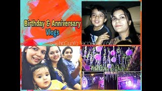 Birthday & Anniversary Party Vlogs|Decoration idea