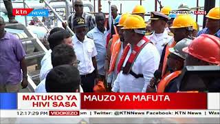 President Uhuru flags off first jetty shipping out 200,000 barrels of crude oil to Malaysia