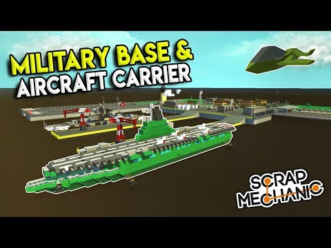 MICRO MILITARY BASE & AIRCRAFT CARRIER! - Scrap Mechanic Gameplay City - Micro City EP 9