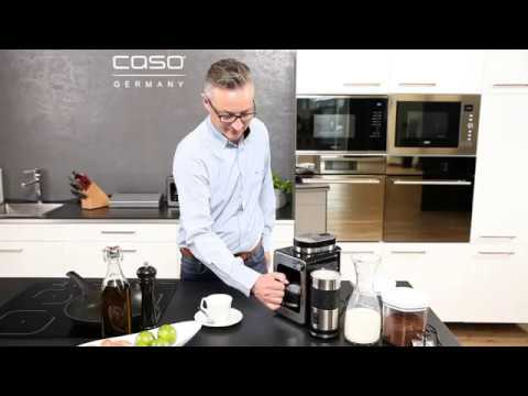 caso coffee compact kompakte filterkaffeemaschine mit mahlwerk youtube. Black Bedroom Furniture Sets. Home Design Ideas