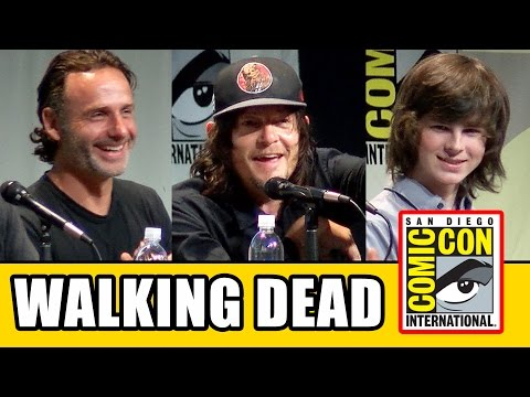 The Walking Dead Comic Con 2015 Panel  Norman Reedus, Andrew Lincoln, Chandler Riggs