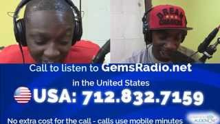 Gems Radio  DJ Antlive & Vonna Trump interview BraziO & D Black  A Don  10/28/15