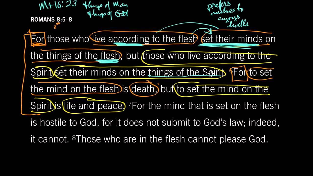 Romans 8:5–6: Set Your Mind on the Spirit | Desiring God