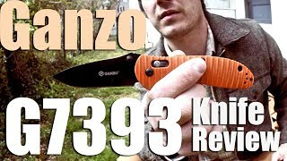 $20 Ganzo G7393 Folding Pocket Knife Review- Quality 3.5 in EDC Blade for 2016