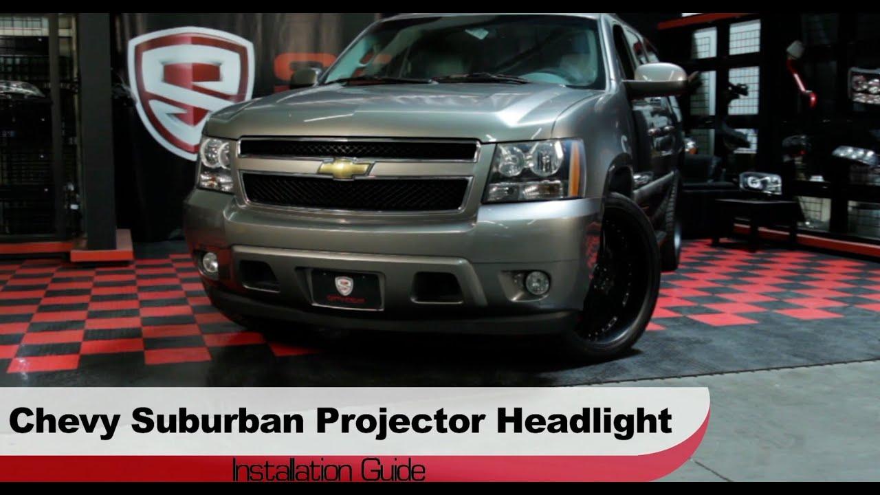 hight resolution of spyder auto installation 2007 14 chevrolet suburban tahoe avalanche projector headlights