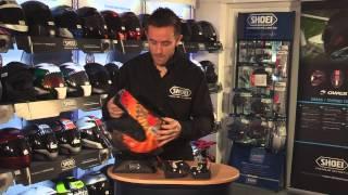 Replacing your SHOEI helmet lining