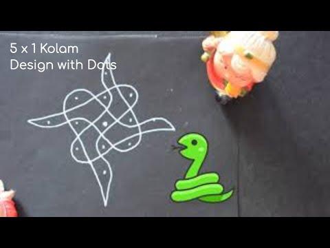 கோலம் போடுவது எப்படி | 5 X 1 கோலம் | kolam tutorial | easy rangoli | [motivational video]
