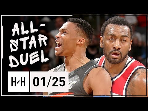 Russell Westbrook vs John Wall All-STAR Duel Highlights (2018.01.25) Wizards vs Thunder - EPIC