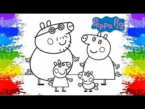 Desenho da Peppa Pig Pinturas Como Pintar online Porquinha rosa Jogo Desenho da peppa e george