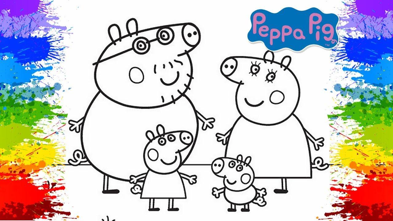 Desenhos Para Pintar: Desenho Da Peppa Pig Pinturas Como Pintar Online Porquinha