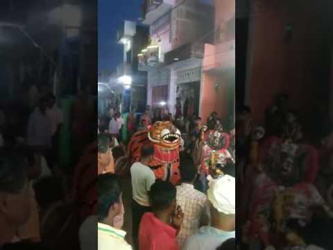 Tiger dance in Berhampur