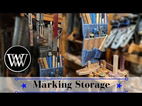 Building a Rack For Marking Knives,Gauges, and Squares | Hand Tool Woodworking Project