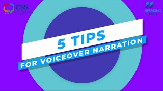 5 Tips for Voiceover Narration