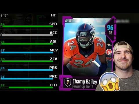 CHAMP BAILEY MAYBE THE BEST CORNER IN MADDEN! 95 Ovr POWER UP Champ Bailey for FREE | MUT 18 TIPS