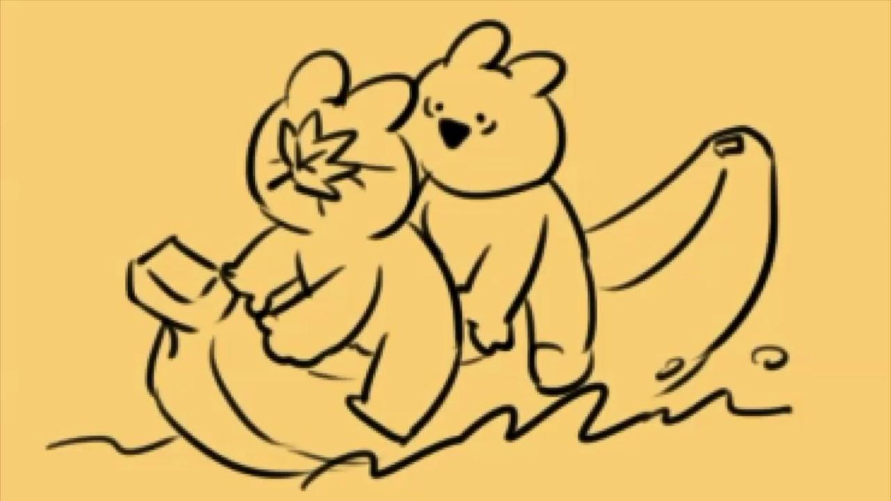 イラスト制作配信すこぶる動くウサギ오버액션 토끼 1 Youtube