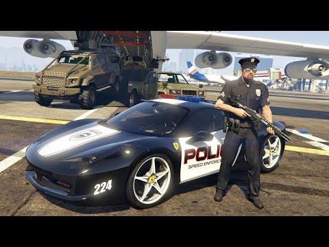 GTA 5 Mods - PLAY AS A COP MOD!! GTA 5 Police Ferrari 458 Patrol Mod Gameplay! (GTA 5 Mods Gameplay)