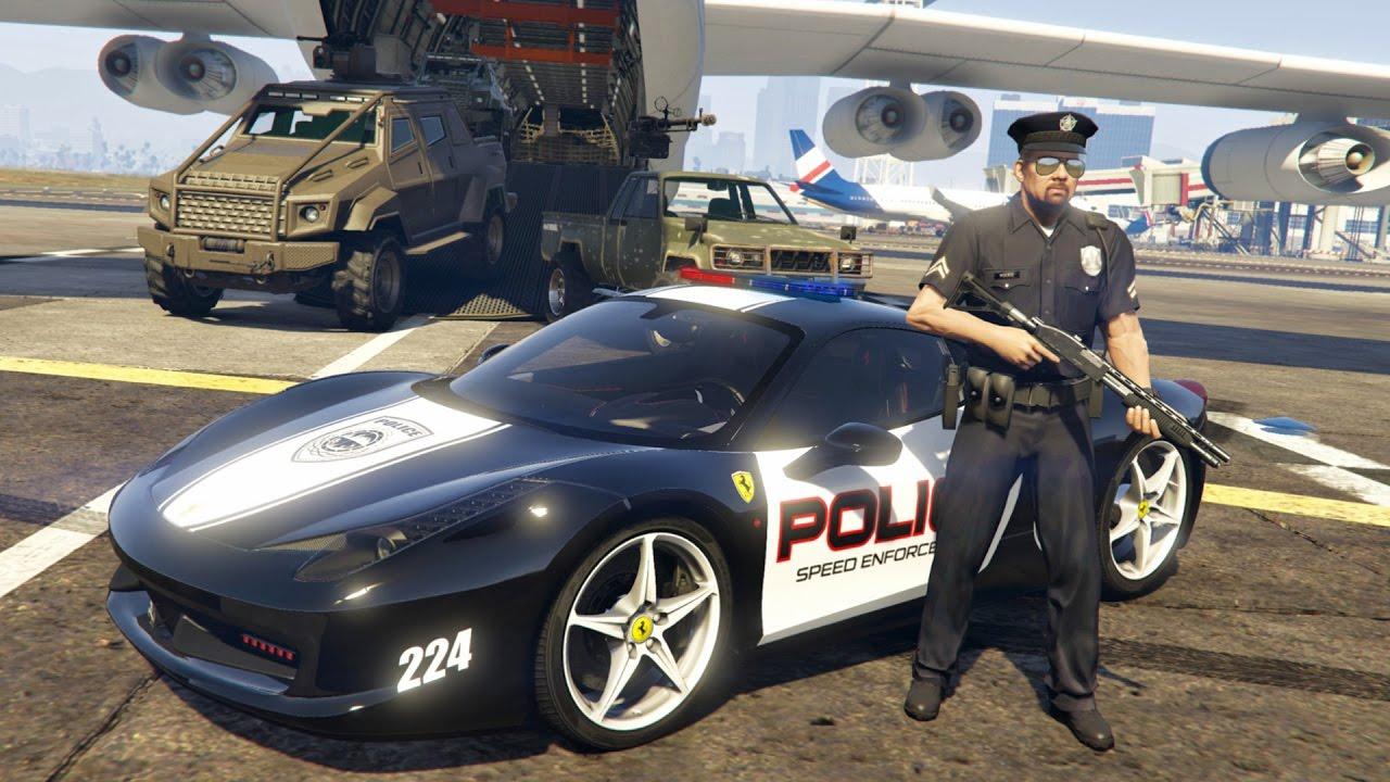 Gta 5 Mods Play As A Cop Mod Gta 5 Police Ferrari 458