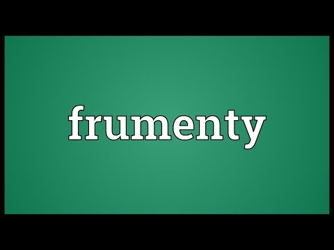 Header of frumenty