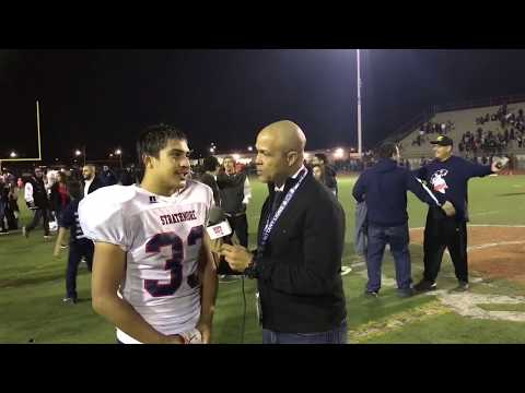 INTERVIEW Joseph Garcia RB 'Impact Player of the Game' Strathmore HS CIF 6AA STATE CHAMPIONS