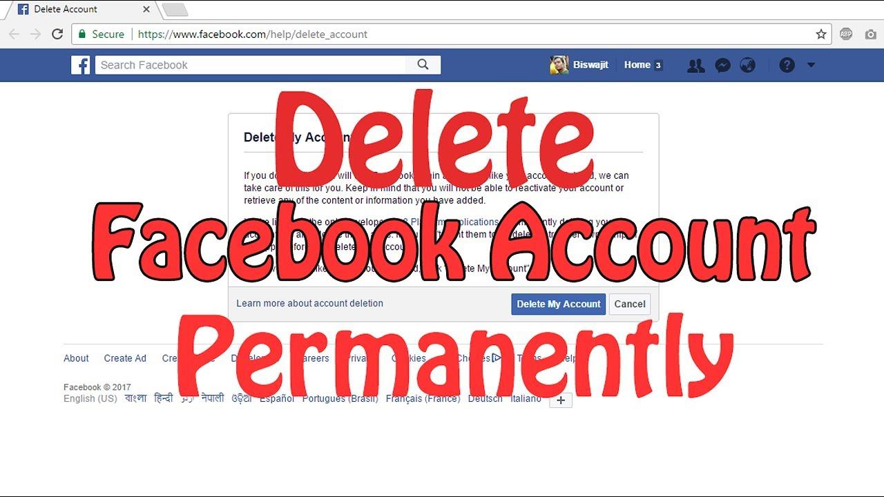 Delete facebook account permanently no option for recovery 2017 delete facebook account permanently no option for recovery 2017 ccuart Image collections
