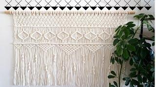 DIY Makrome Duvar Dekoru / Macrame Wall Hanging