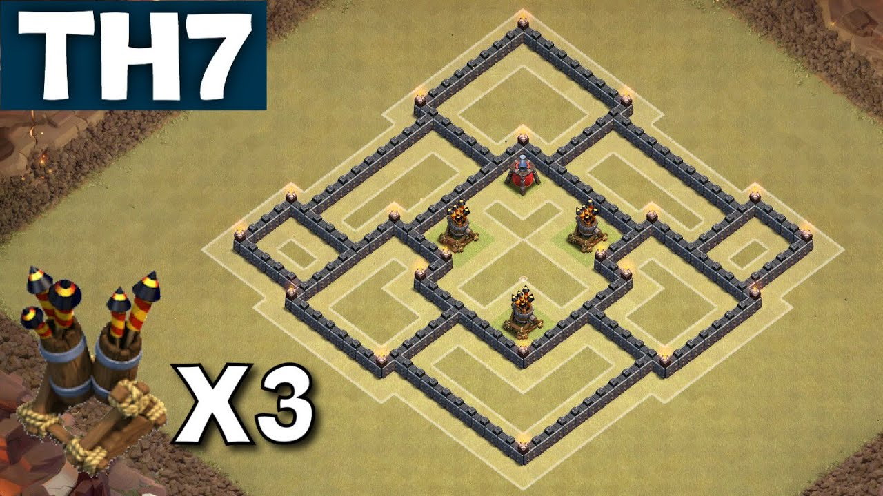 War Base with 3 AIR DEFENCES New Update - Clash of Clans CoC - YouTube ...