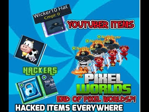 """🔴HACKED/GLITCHED ITEMS, LEAKS AND MORE.. """"End of Pixel Worlds""""🔴 (Must watch)"""