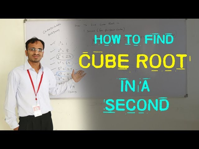 How to find Cube Root  in a second