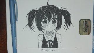 Рисуем Аниме Девушку | Anime Girl Fast Drawing