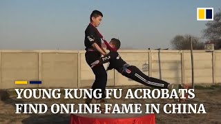 Young kung fu acrobats wow online fans in China with thrilling performances