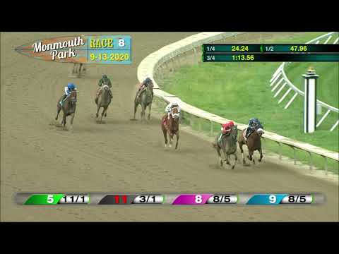 video thumbnail for MONMOUTH PARK 09-13-20 RACE 8