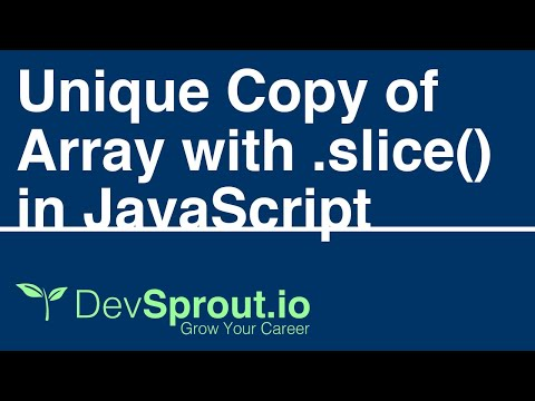 How to Copy an Array with .slice() in JavaScript thumbnail