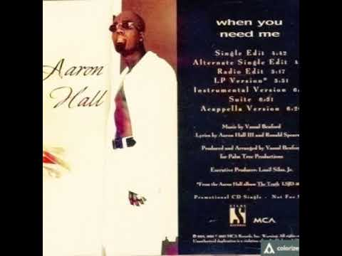 Aaron Hall When You Need Me (Extended Vocal Version/No Talk)