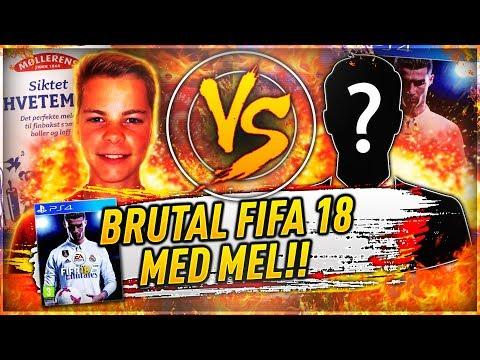 *EKSTREM* BRUTAL FIFA 18 MED MEL?💥 JZANDE VS SMEKK THE PUNG🔥