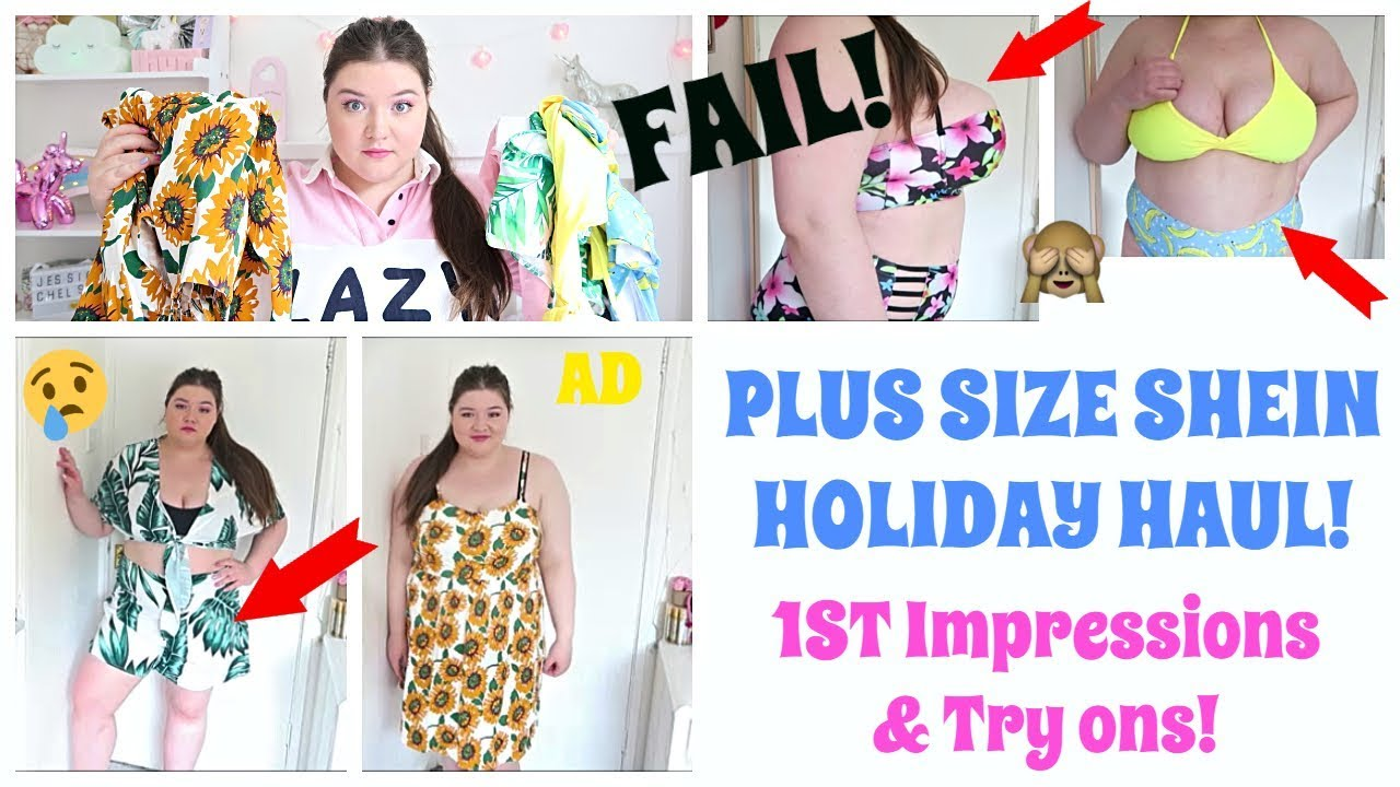 4136a5c549 SHEIN TRY ON HAUL! Plus Size holiday shop! 1st Impressions! |AD ...