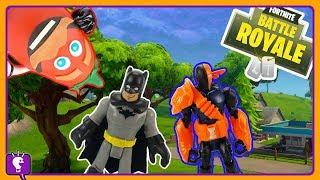 Fortnite Battle of Heroes Vs Villains + Surprise Play-Doh Character Build on HobyyKidsTV