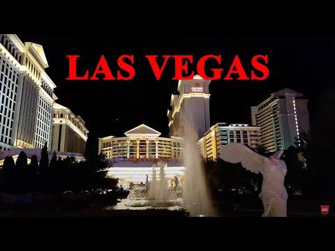 Walking at Night on Las Vegas Strip 4K