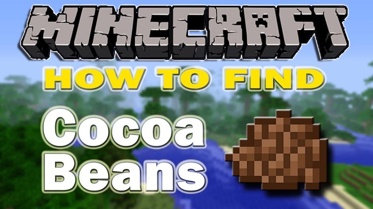 Minecraft How To Find Cocoa Beans Youtube It is also used for making cookies. minecraft how to find cocoa beans
