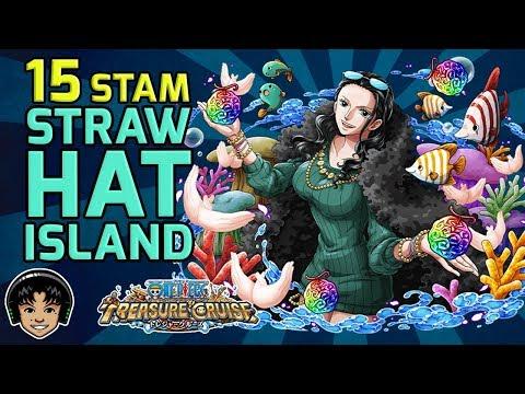 Walkthrough for the 15 Stamina Straw Hat Gem Event Island! [One Piece Treasure Cruise]
